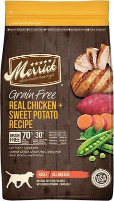 Merrick Grain-Free Real Chicken + Sweet Potato Recipe Dry Dog Food, 25-lb bag (original)