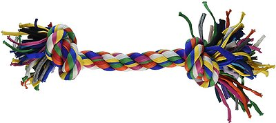 Mammoth Cloth Rope Bone for Dogs, Color Varies, Large