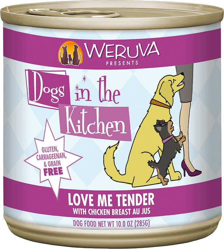 Weruva Dogs in the Kitchen Love Me Tender with Chicken Breast Au Jus Grain-Free Wet Dog Food, 10-oz can, case of 12