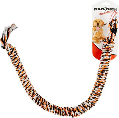 Mammoth SnakeBiter Snake Rope Dog Toy, Color Varies