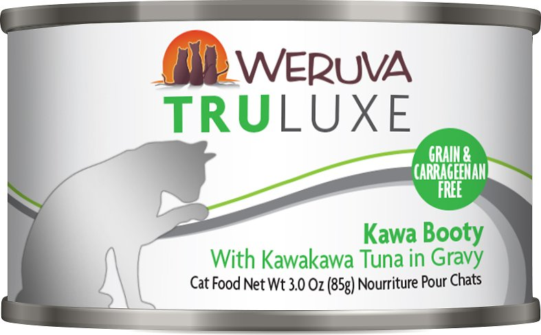 Weruva Cat Truluxe Kawa Booty with Kawakawa Tuna in Gravy Grain-Free Wet Cat Food, 3-oz