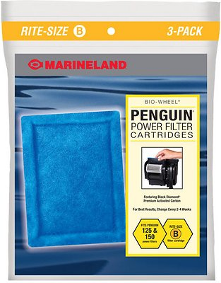 Marineland Bio-Wheel Penguin Rite-Size B Filter Cartridge, 3 count