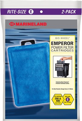 Marineland Bio-Wheel Emperor Rite-Size E Filter Cartridge, 2 count