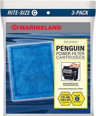 Marineland Bio-Wheel Penguin Rite-Size C Filter Cartridge, 3 count