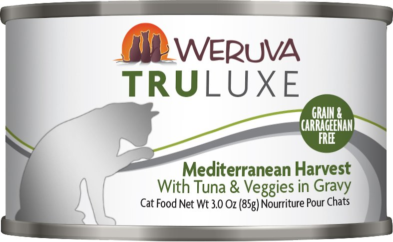 Weruva Cat Truluxe Mediterranean Harvest with Tuna & Veggies in Gravy Grain-Free Wet Cat Food, 6-oz