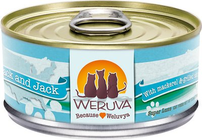 Weruva Cat Classic Mack and Jack with Mackerel & Grilled Skipjack Grain-Free Wet Cat Food, 5.5-oz, case of 24