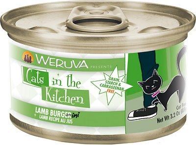 Weruva Cats in the Kitchen Lamb Burgini Lamb Au Jus Grain-Free Wet Cat Food, 3.2-oz, case of 24