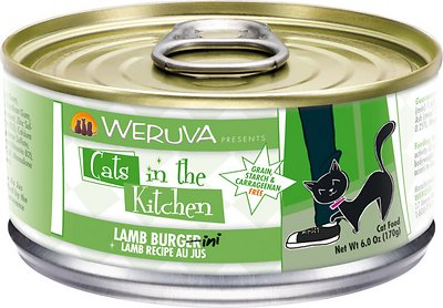 Weruva Cats in the Kitchen Lamb Burgini Lamb Au Jus Grain-Free Wet Cat Food, 6-oz, case of 24