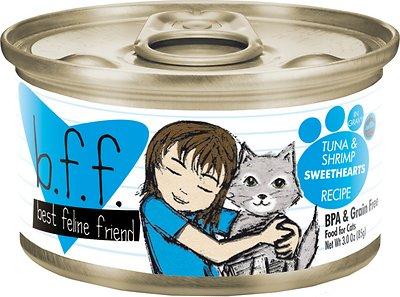 BFF Originals Sweethearts Tuna & Shrimp Dinner in Gravy Grain-Free Wet Cat Food, 3-oz, case of 24