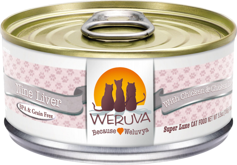 Weruva Cat Classic Nine Liver with Chicken & Chicken Liver in Gravy Grain-Free Wet Cat Food, 3-oz