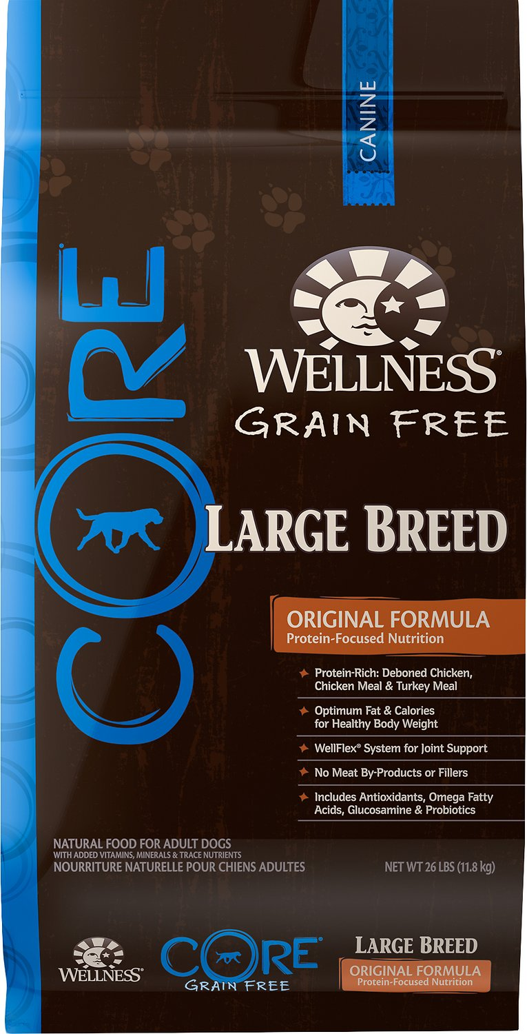 Wellness CORE Grain-Free Large Breed Chicken & Turkey Recipe Dry Dog Food Image