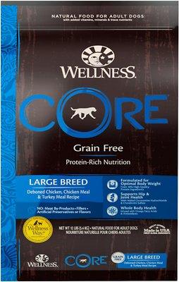 Wellness CORE Grain-Free Large Breed Chicken & Turkey Recipe Dry Dog Food, 12-lb bag