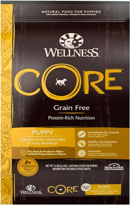 Wellness CORE Grain-Free Puppy Chicken & Turkey Recipe Dry Dog Food, 12-lb bag