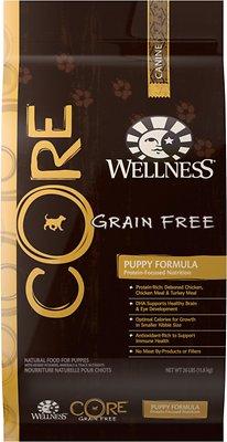 Wellness CORE Grain-Free Puppy Chicken & Turkey Recipe Dry Dog Food, 26-lb bag