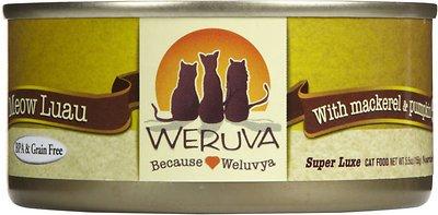 Weruva Cat Classic Meow Luau with Mackerel & Pumpkin Grain-Free Wet Cat Food, 3-oz, case of 24