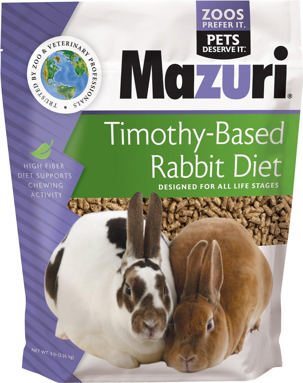 Mazuri Timothy-Based Rabbit Food, 5-lb bag