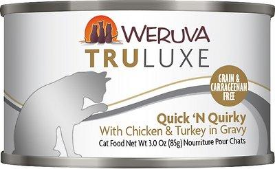 Weruva Cat Truluxe Quick 'N Quirky with Chicken & Turkey in Gravy Grain-Free Wet Cat Food, 3-oz, case of 24