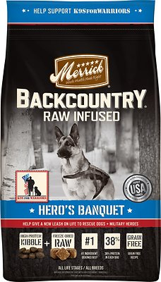 Merrick Backcountry Raw Infused Hero's Banquet Recipe Dry Dog Food, 22-lb bag