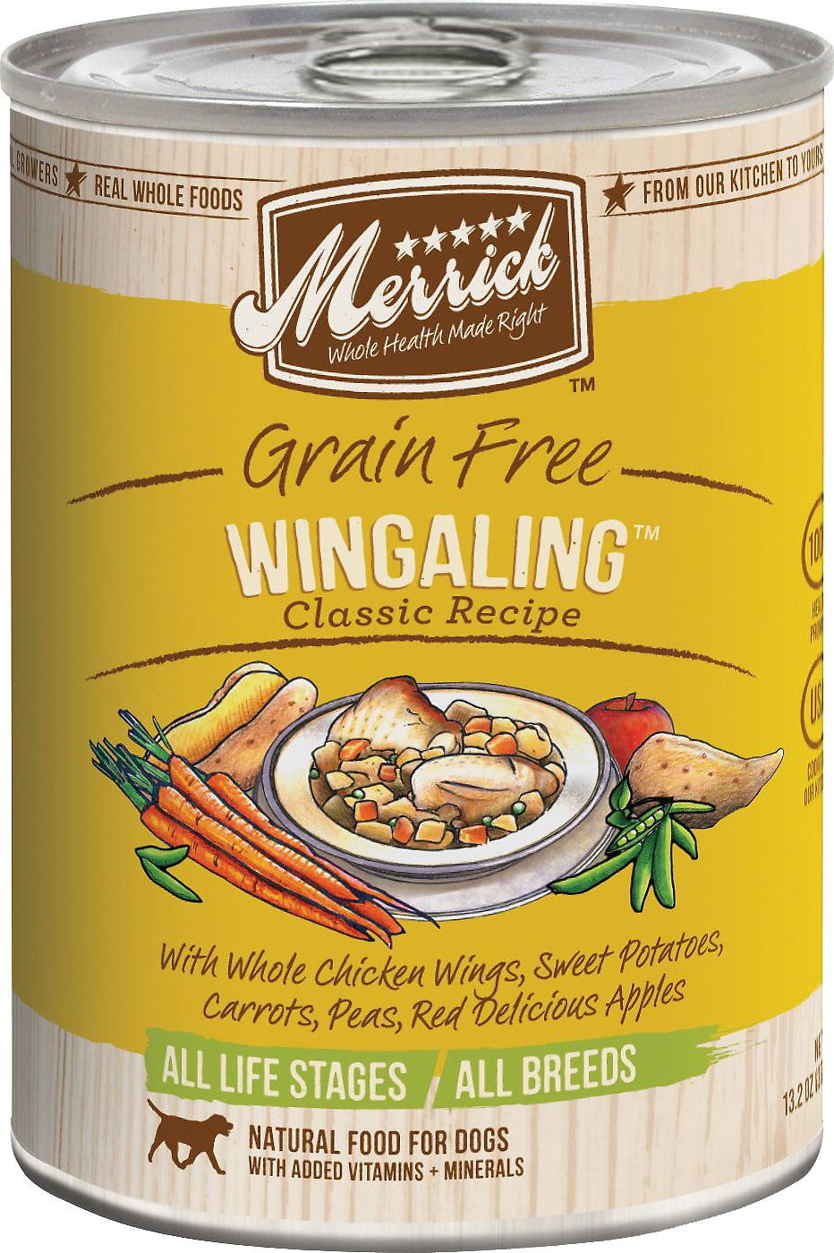 Merrick Grain-Free Wingaling Canned Dog Food, 13.2-oz,