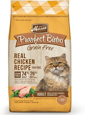Merrick Purrfect Bistro Grain-Free Real Chicken Recipe Adult Dry Cat Food, 4-lb bag