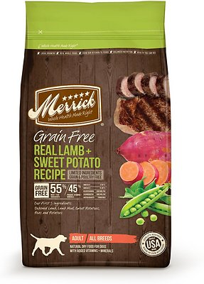 Merrick Grain-Free Real Lamb + Sweet Potato Recipe Dry Dog Food, 4-lb bag (original)
