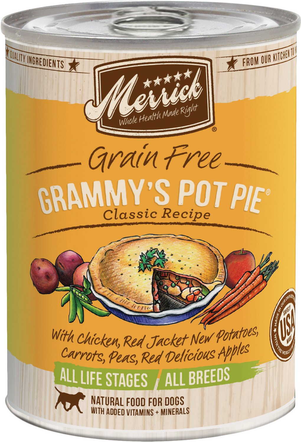Merrick Grain-Free Grammy's Pot Pie Recipe Canned Dog Food