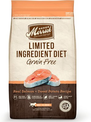 Merrick Limited Ingredient Diet Grain-Free Real Salmon + Sweet Potato Recipe Dry Dog Food, 22-lb bag Weights: 22.0 pounds, Size: 22-lb bag