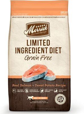 Merrick Limited Ingredient Diet Grain-Free Real Salmon + Sweet Potato Recipe Dry Dog Food, 12-lb bag