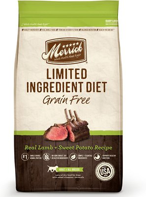 Merrick Limited Ingredient Diet Grain-Free Real Lamb + Sweet Potato Recipe Dry Dog Food, 22-lb bag Weights: 22.0 pounds, Size: 22-lb bag
