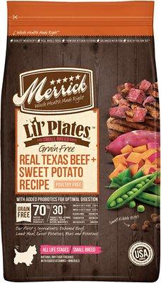 Merrick Lil' Plates Grain-Free Real Beef & Sweet Potato Dry Dog Food, 4-lb bag