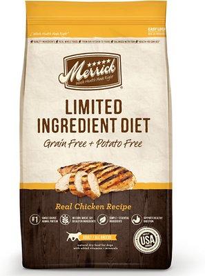 Merrick Limited Ingredient Diet Grain-Free Real Chicken Recipe Dry Dog Food, 4-lb bag