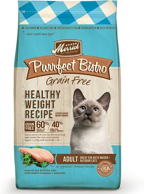 Merrick Purrfect Bistro Grain-Free Healthy Weight Recipe Dry Cat Food, 4-lb bag