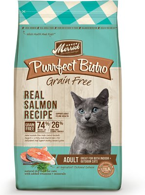 Merrick Purrfect Bistro Grain-Free Real Salmon Recipe Adult Dry Cat Food, 4-lb bag