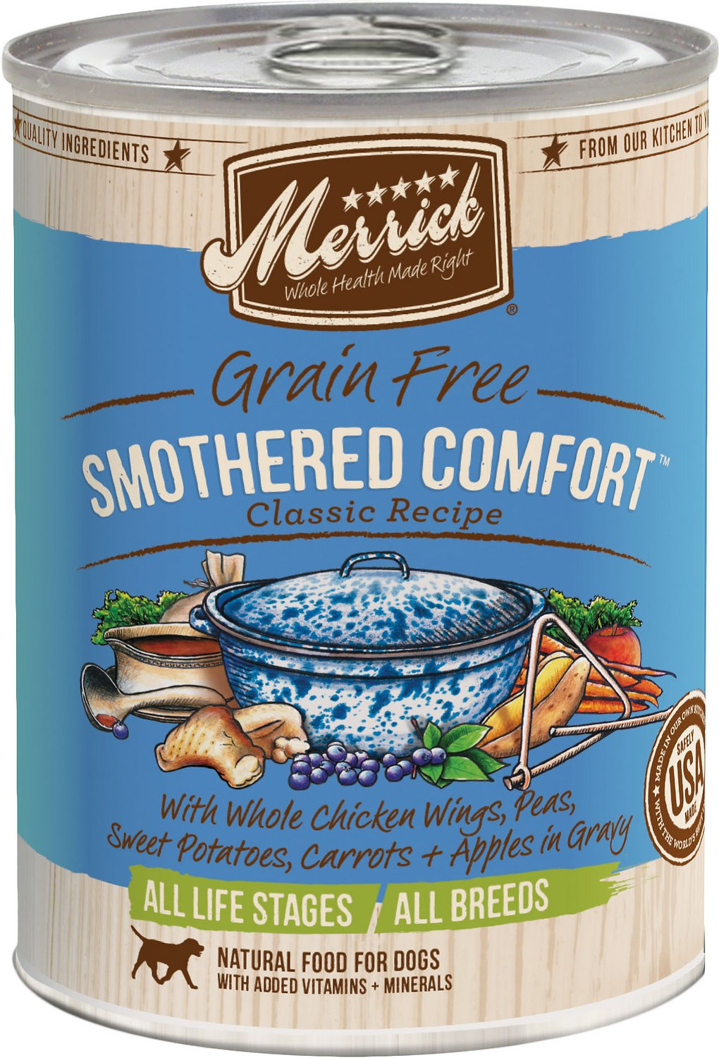 Merrick Grain-Free Smothered Comfort Canned Dog Food, 13.2-oz