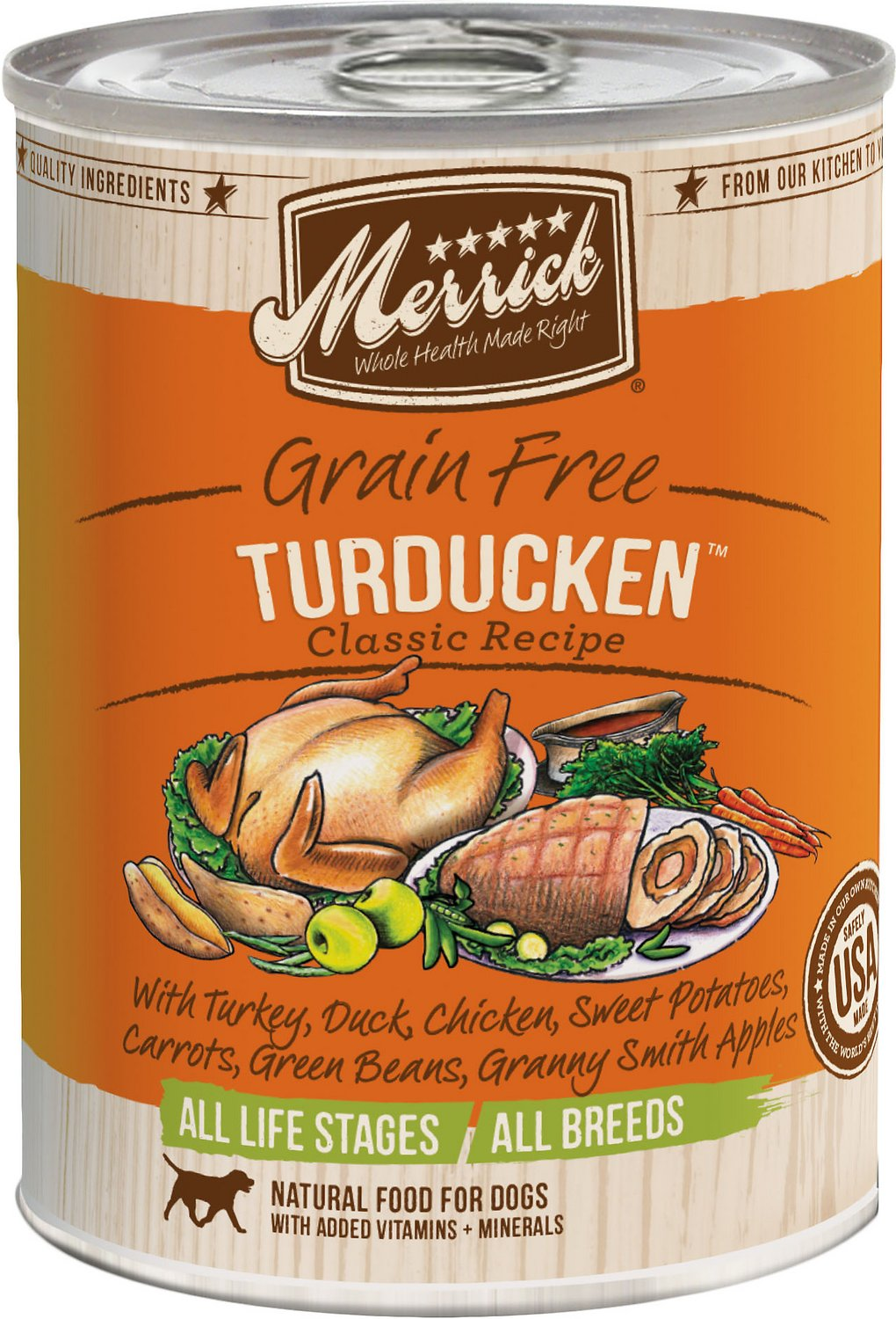 Merrick Grain-Free Turducken Recipe Canned Dog Food, 12.7-oz Size: 12.7-oz