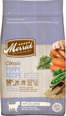 Merrick Classic Puppy Recipe Dry Dog Food, 4-lb bag
