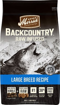Merrick Backcountry Raw Infused Large Breed Recipe Dry Dog Food