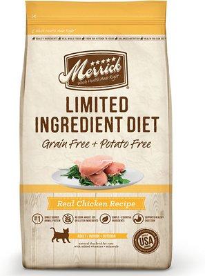 Merrick Limited Ingredient Diet Grain-Free Real Chicken Recipe Dry Cat Food, 4-lb bag