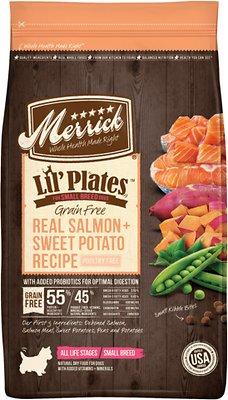 Merrick Lil' Plates Grain-Free Real Salmon & Sweet Potato Dry Dog Food, 4-lb bag