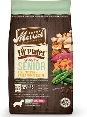 Merrick Lil' Plates Grain-Free Real Chicken & Sweet Potato Senior Dry Dog Food, 12-lb bag