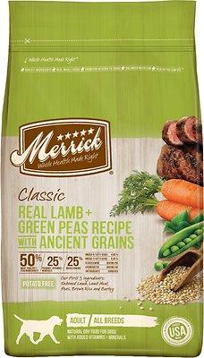 Merrick Classic Real Lamb + Green Peas Recipe with Ancient Grains Adult Dry Dog Food, 25-lb bag
