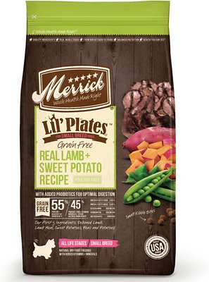 Merrick Lil' Plates Grain-Free Real Lamb & Sweet Potato Dry Dog Food, 4-lb bag