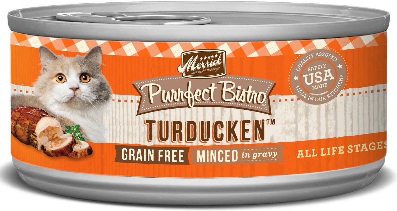 Merrick Purrfect Bistro Grain-Free Turducken Minced in Gravy Canned Cat Food