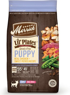 Merrick Lil' Plates Grain-Free Real Chicken & Sweet Potato Puppy Dry Dog Food, 12-lb bag