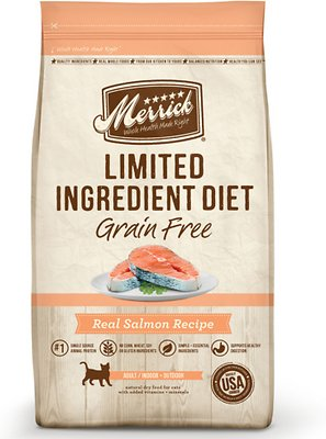 Merrick Limited Ingredient Diet Grain-Free Real Salmon Recipe Dry Cat Food, 12-lb bag