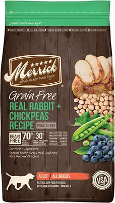 Merrick Grain-Free Real Rabbit + Chickpeas Recipe Dry Dog Food, 12-lb bag