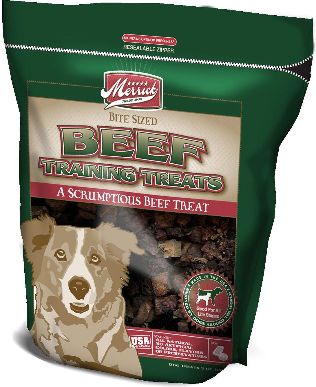 Merrick Beef Training Dog Treats, 5-oz bag
