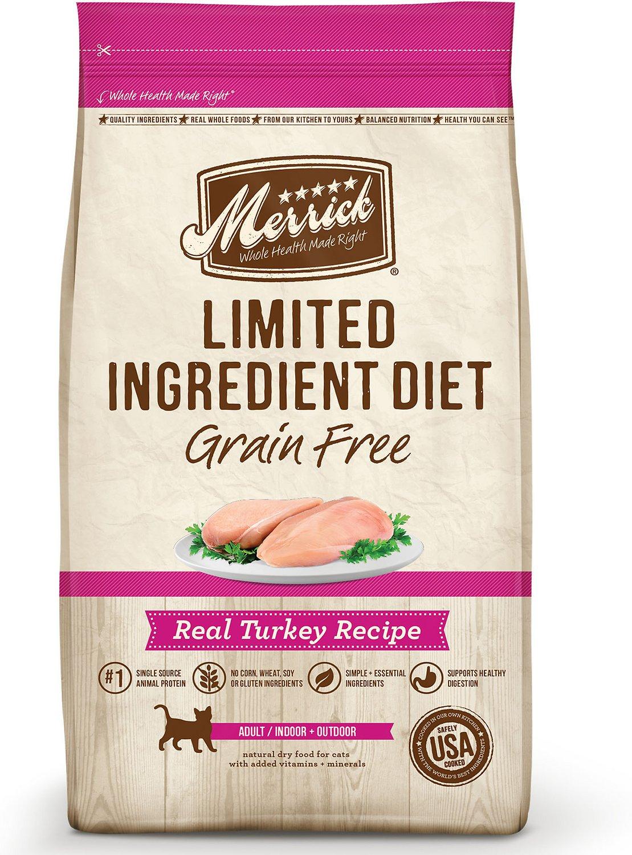 Merrick Limited Ingredient Diet Grain-Free Real Turkey Recipe Dry Cat Food Image