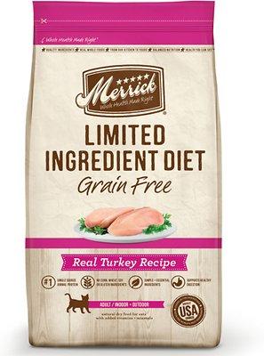Merrick Limited Ingredient Diet Grain-Free Real Turkey Recipe Dry Cat Food, 12-lb bag
