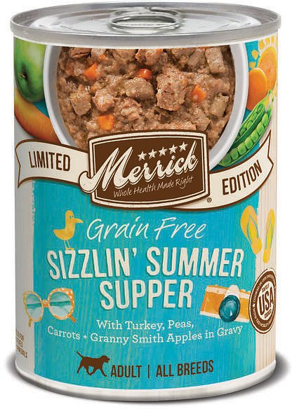 Merrick Limited Edition Grain-Free Sizzlin' Summer Supper Adult Canned Dog Food, 12.7-oz
